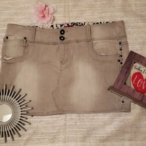 Torrid destressed Jean's mini Skirt size 18